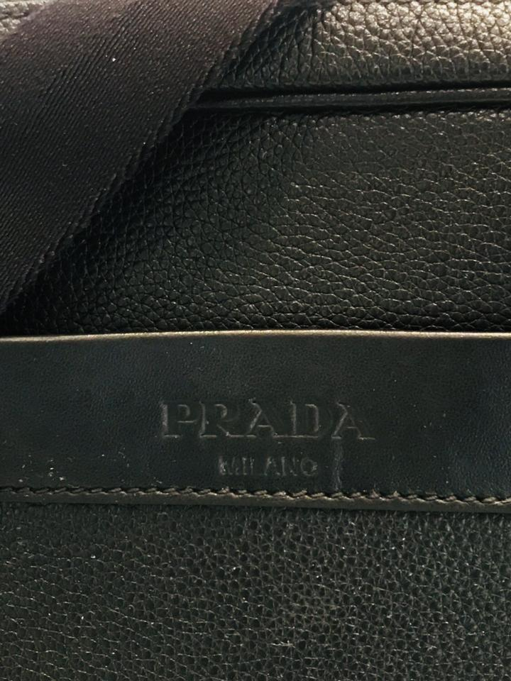 a89174ee5af8 Prada Vietlla Daino Black Leather Messenger Bag - Tradesy