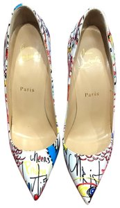 Christian Louboutin White (multi) Pumps