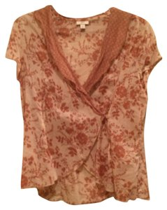 J. Jill Top brown and cream