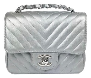 Chanel Chevron Caviar Mini Cross Body Bag