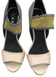 L.A.M.B. Yellow and black Sandals