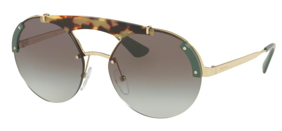 b7cb45b9e3a7 Prada Gold Tortoise Shell   Olive   Gray Gradient Lens Free 3 Day Shipping  New Oversized Large Spr 52u Sz60a7 Sunglasses