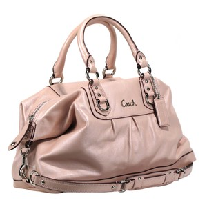 Coach Leather Casual Satchel in Blush