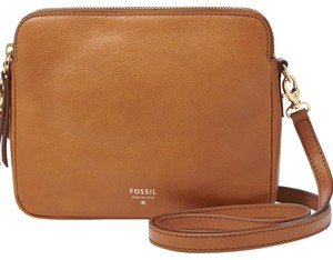 Fossil Leather Faux Patent Cross Body Bag