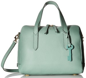Fossil Leather Satchel in Teal Turquoise Mint