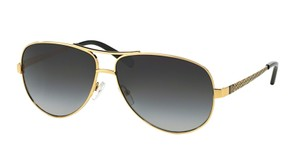 Tory Burch NEW Gold AVIATOR SUNGLASSES TY 6035 302011 FREE 3 DAY SHIPPING