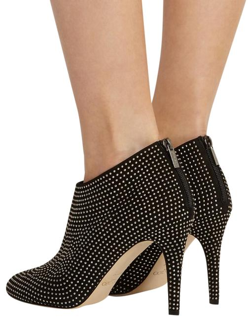 Item - Black Silver Suede Mendez Pointed-toe Boots/Booties Size EU 39 (Approx. US 9) Regular (M, B)