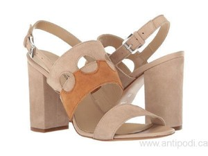 Andre Assous Suede Taupe/White Sandals