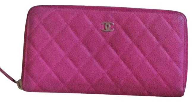 Chanel Hot Pink (Rose) Caviar with Zipper Wallet Chanel Hot Pink (Rose) Caviar with Zipper Wallet Image 1