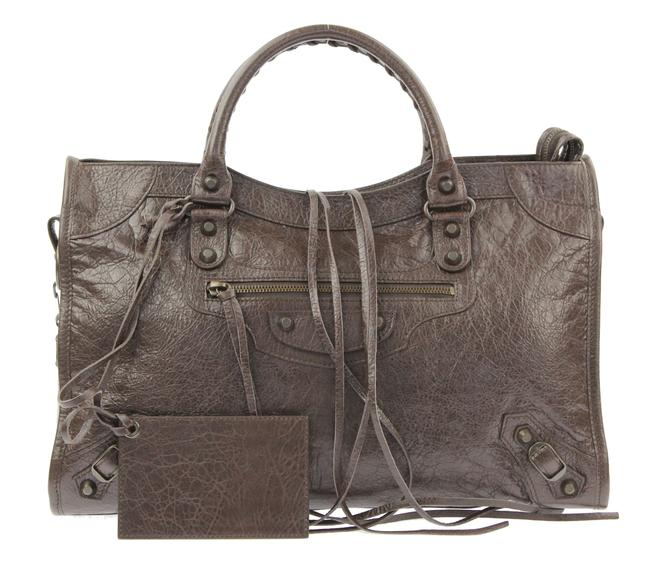Item - Classic City Brown Lambskin Leather Shoulder Bag