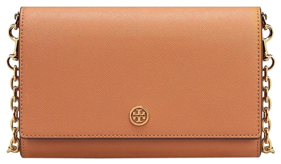 beccaad7baeb Tory Burch Robinson Chain Wallet Brown Leather Cross Body Bag - Tradesy