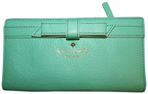 Kate Spade Mint Green Leather Bow Wallet