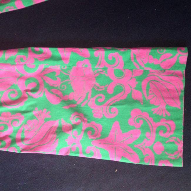 Lilly Pulitzer Summer Fun Palazzo Designer Cotton Stretch Dress Up Casual Wide Leg Pants Green pink