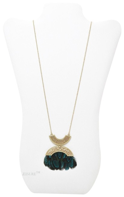 Item - Gold/Multi Double Crescent Feather Pendant Nordstrom Necklace