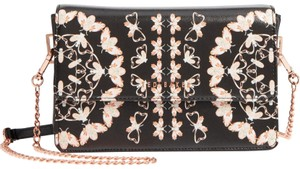 Ted Baker Queen Bee Magnetic Snap Faux Leather Rose Gold Hardware Cross Body Bag