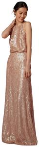 Donna Morgan Sequin Gown Rose Gold Dress