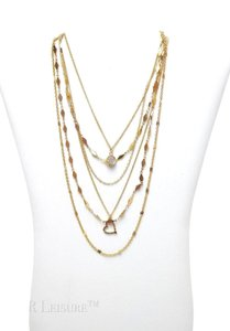 Full Tilt Full Tilt 7 Chain Layered Gold Necklace Jewelry