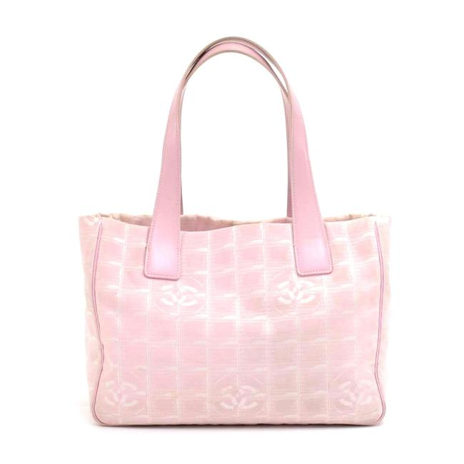 Item - Bag Travel Line Light Jacquard Small Pink Nylon Tote