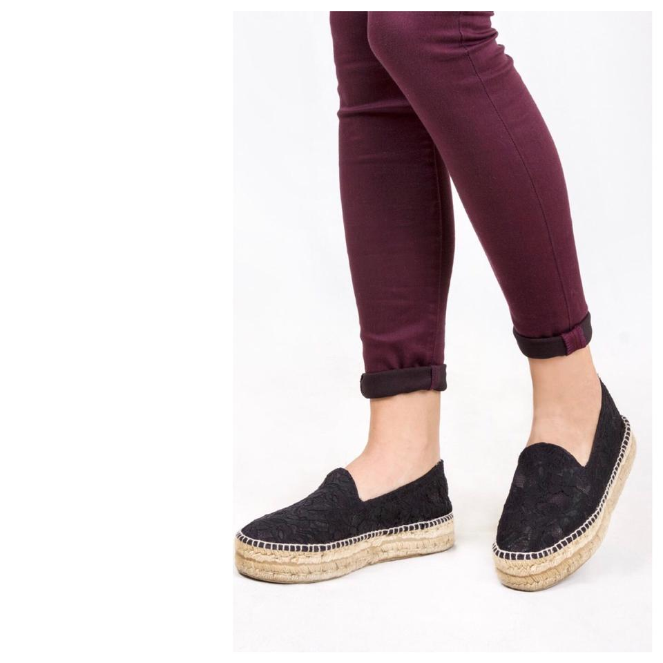 cb5bedfea Manebi Black Hamptons Espadrilles Flats Size US 7 Regular (M, B ...