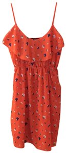 Soprano short dress orange on Tradesy