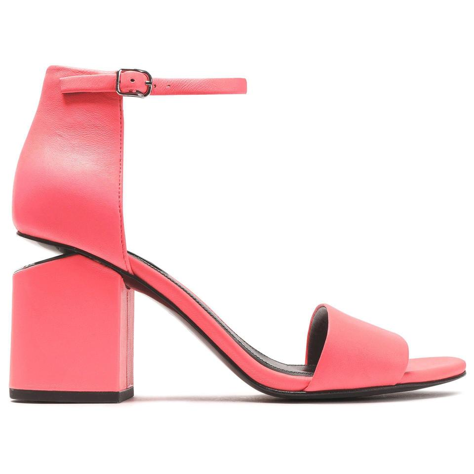 ef505a353 Alexander Wang Neon Coral Pink **** Sold Posh 4/10/19**** Abby Leather  Block Heel Rhodium Sandals