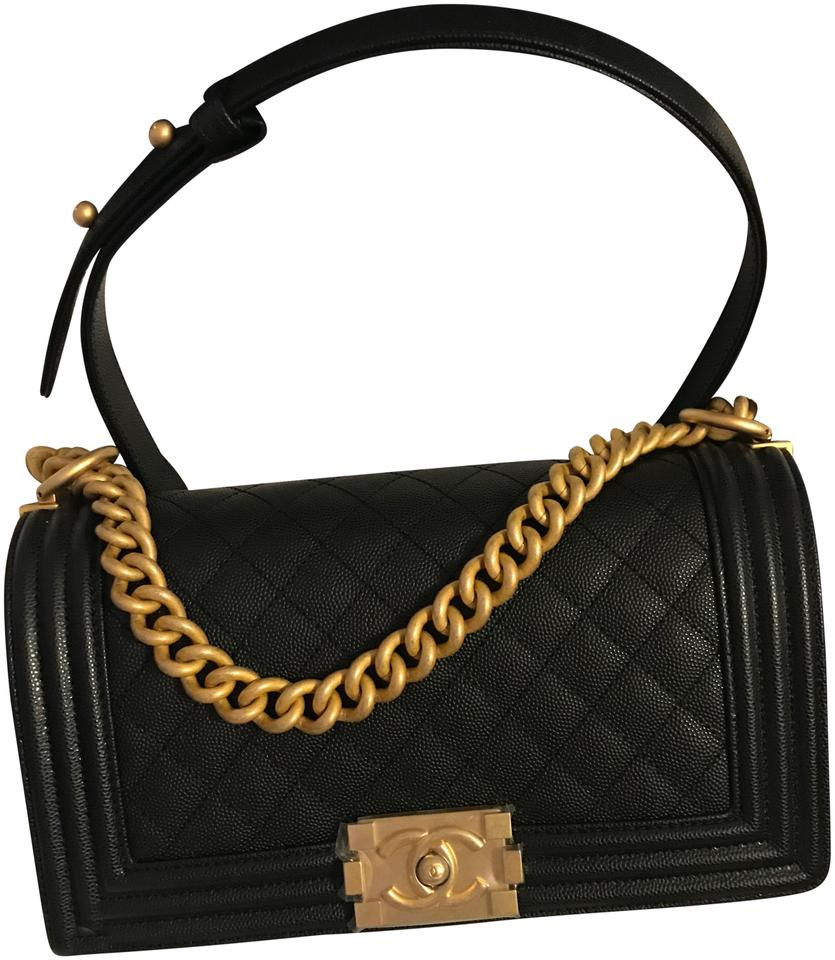 d17939a70957 Chanel Classic Flap Boy 18p Collection Quilted Black Caviar Leather ...