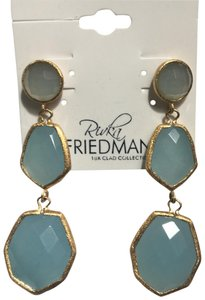 Rivka Friedman GOLD CLAD SATIN FINISH FACETED CHALCEDONY