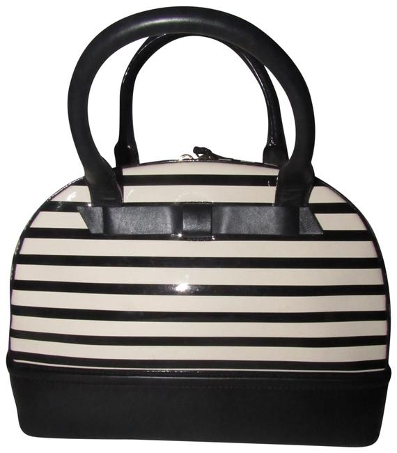Item - New Purses/Designer Purses Black and White Patent Leather and Black Leather Satchel