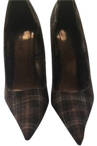 Dollhouse Brown Plaid Pumps
