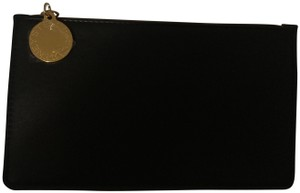 Stella McCartney Black w/ Gold Logo Charm & Zipper Clutch
