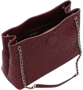 Tory Burch Satchel in Burgundy Maroon