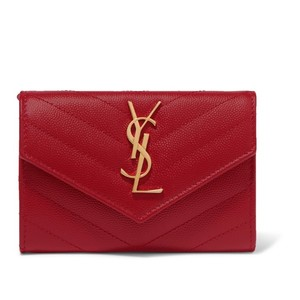 Saint Laurent monogram matelasse quilted leather small wallet