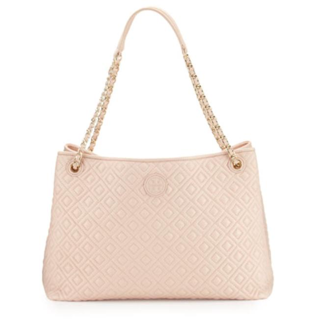 Item - Marion Chain-strap Shoulder Slouch Pale Apricot Lambskin Leather Tote