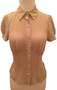 The Limited Cap Sleeve Silk Pearl Top Nude