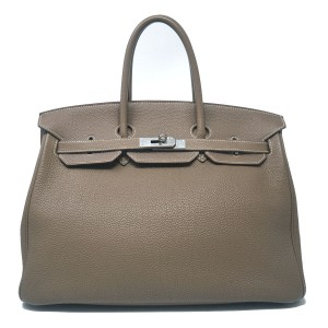 Hermès Birkin Togo 35 Leather Handbag Tote in taupe