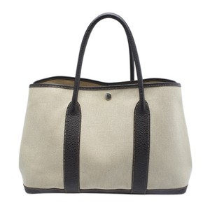 Hermès Birkin Brown Christmas Gift Canvas Herbag Tote in Ecru/Noir