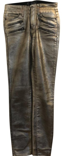 Item - Gold Coated Stevie Galaxy Coating Skinny Jeans Size 2 (XS, 26)