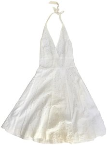 Isaac Mizrahi for Target short dress White Embroidered Halter on Tradesy
