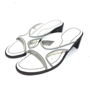 Tod's Leather Stitching White Sandals