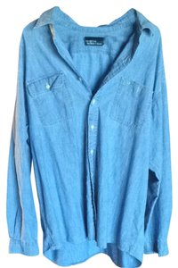 Polo Ralph Lauren Plus Size Shirt Button Down Shirt Denim