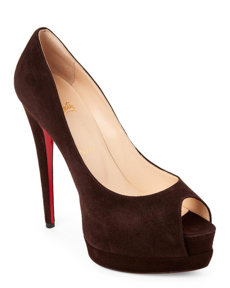 ccd1f8585ab Christian Louboutin Brown Palais Royal 120 Suede Open Toe Heels Pumps  Platforms Size EU 38.5 (Approx. US 8.5) Regular (M, B) 30% off retail