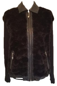 Lisa International Accent Faux Fur Solid Fall Winter Leather Jacket