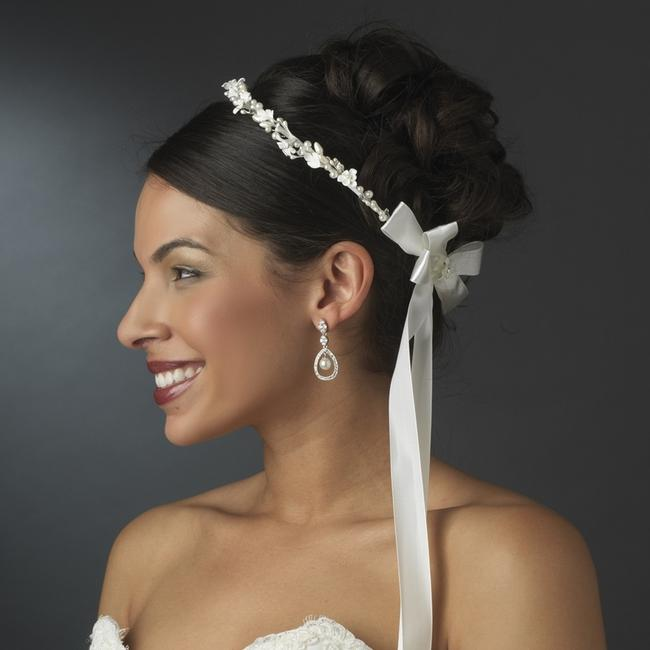 Item - Ivory Or White Lovely Flower Pearl Greek Stefana Crowns Tiara
