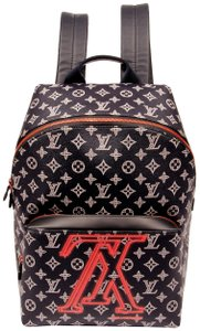 b0713a03a7f2 Louis Vuitton Apollo Upside Down Reverse Lv Ink Logo Shoulder 6158 Blue  Canvas Backpack
