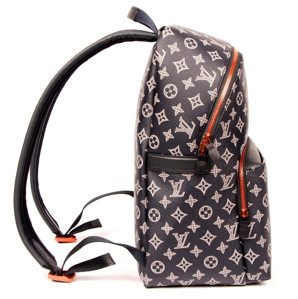 815e8805fff2 Louis Vuitton Apollo Upside Down Reverse Lv Ink Logo Shoulder 6158 Blue  Canvas Backpack - Tradesy