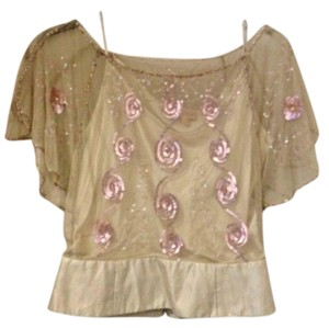 Language Top Pink and Beige