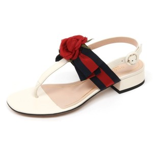 Gucci Flower Casual White/Blue/Red Sandals