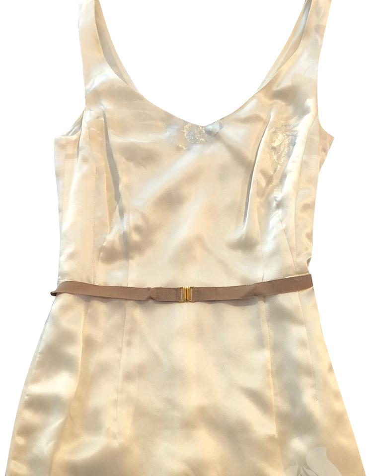 956d8f320fd Boss by Hugo Boss Cream Gold and Silver Silk Cocktail Mid-length ...