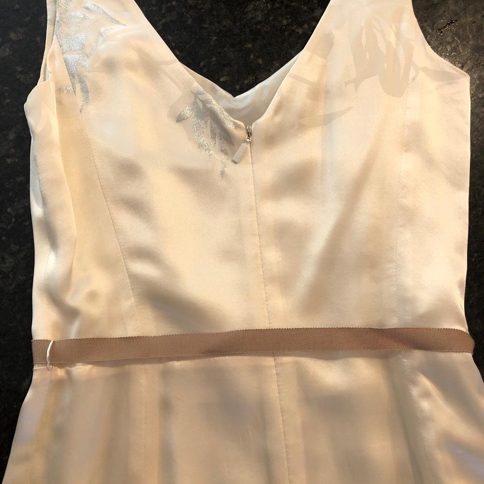 bf430e496e4 Boss by Hugo Boss Cream Gold and Silver Silk Cocktail Mid-length Formal  Dress Size 0 (XS) - Tradesy