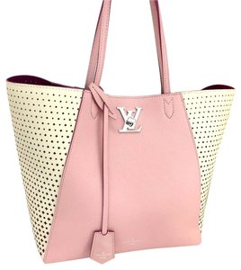 Louis Vuitton Limited Edition Canvas Lockme Neverfull Tote in Pink Brand NEW 6160